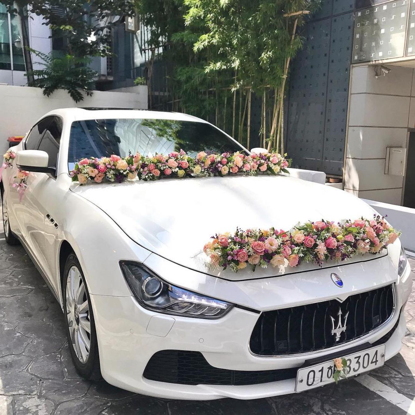 تزیین ماشین عروس زیبا