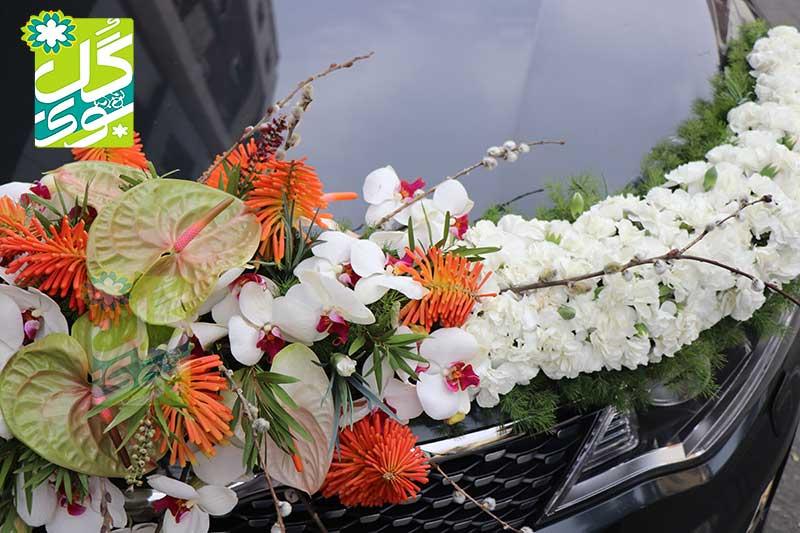 خدمات گل آرایی ماشین عروس